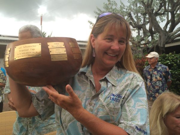 Lori with the Schumacher Perpetual Cup