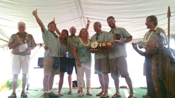 Crew gathered for awards ceremony