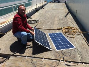 Testing our solar panels