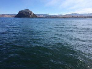 Approaching the entrance to Morro Bay harbor