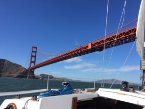 Limitless going under the Golden Gate Bridge