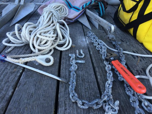 Switching anchor rode lines to be correct lengths